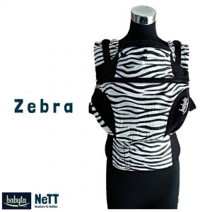Babyta NeTT Adjustable SSC Ergonomics Baby Carrier by Bobita (Zebra)