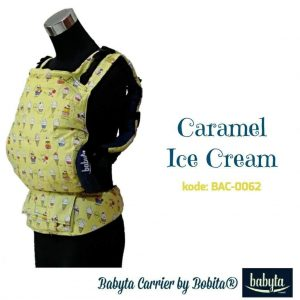 Babyta SSC Ergonomics Baby Carrier by Bobita – PRE-TODDLER SIZE (Caramel Ice Cream)