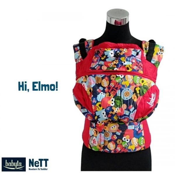 Babyta NeTT Adjustable SSC Ergonomics Baby Carrier by Bobita (Hi Elmo)