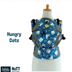 Babyta NeTT Adjustable SSC Ergonomics Baby Carrier by Bobita (Hungry Cats))