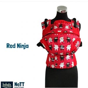Babyta NeTT Adjustable SSC Ergonomics Baby Carrier by Bobita (Red Ninja)