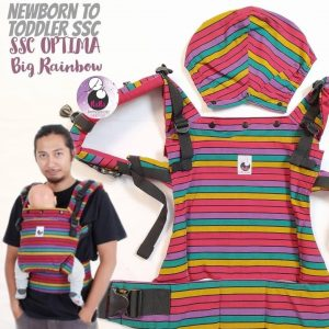 NaNa Optima SSC Ergonomics Baby Carrier – (Big Rainbow)