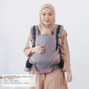 NaNa Optima SSC Ergonomics Baby Carrier – (Grey Mizzle)