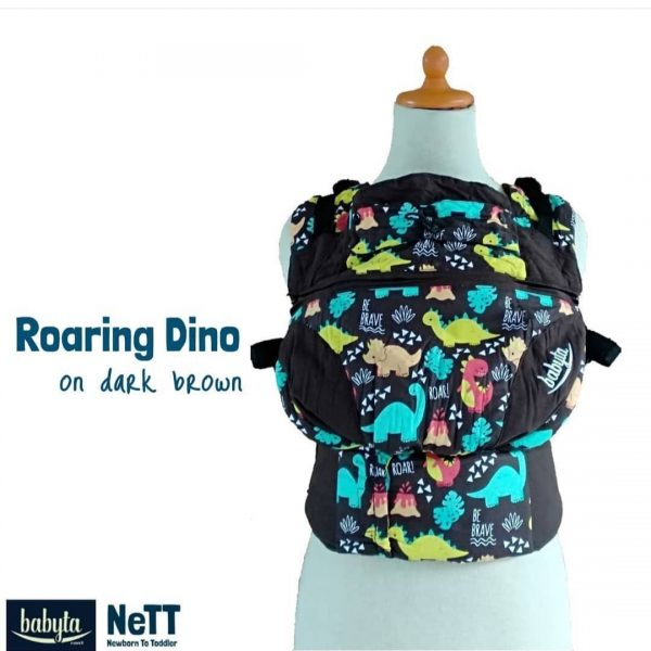 Babyta NeTT Adjustable SSC Ergonomics Baby Carrier by Bobita (Roaring Dino)