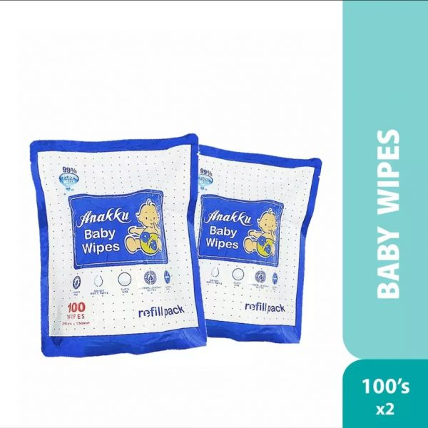 Anakku Baby Wipes 100's X2 Refill Pack