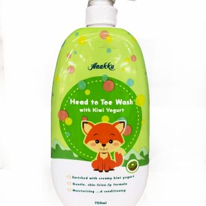 Anakku Head to Toe Wash Kiwi Yogurt 750ml
