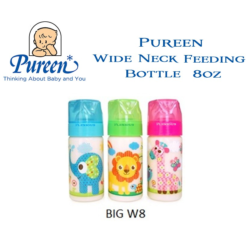 BIGW8 Pureen Wide Neck Bottle 8oz
