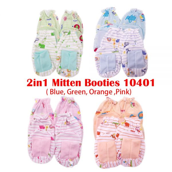 10401 BEESON (2 IN 1) B/MITTENS & BOOTIES
