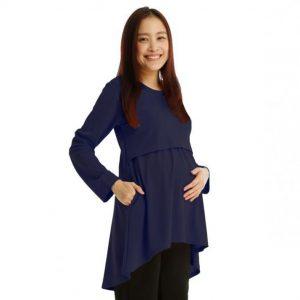 Maternity Nursing Blouse (Dark Blue)