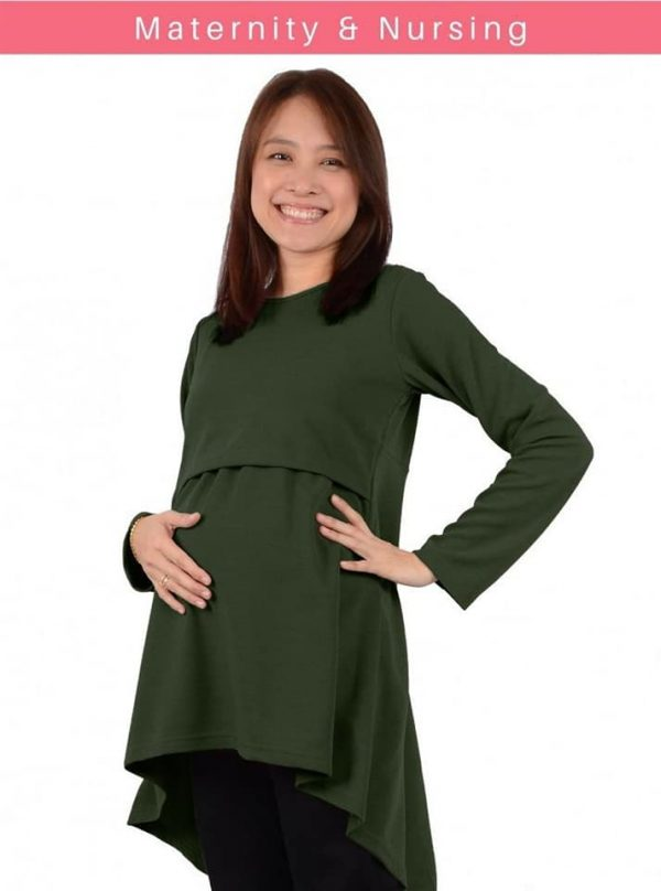 Maternity Nursing Blouse (Dark Green)