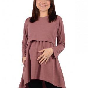 Maternity Nursing Blouse (Purple)