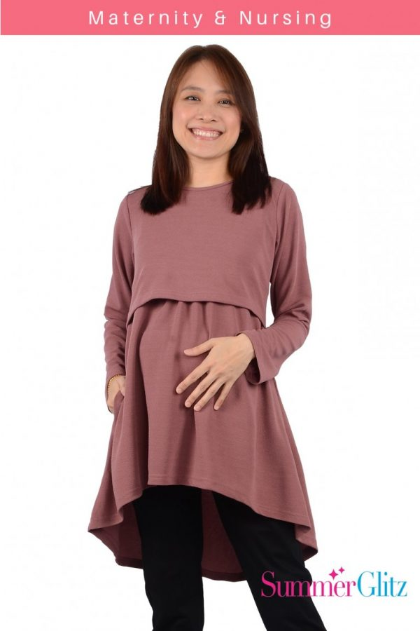 Maternity Nursing Blouse (Purple)