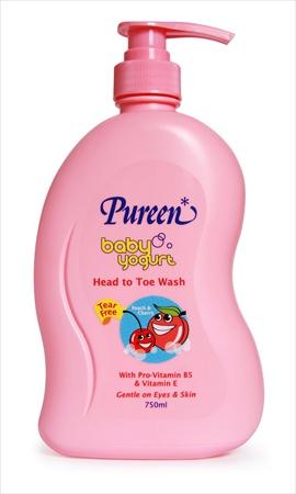 Pureen Baby Yogurt Head to Toe (Peach & Cherry) 750ml