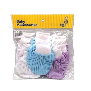 10571 Beeson Eyelet Mittens & Bootees 3in1